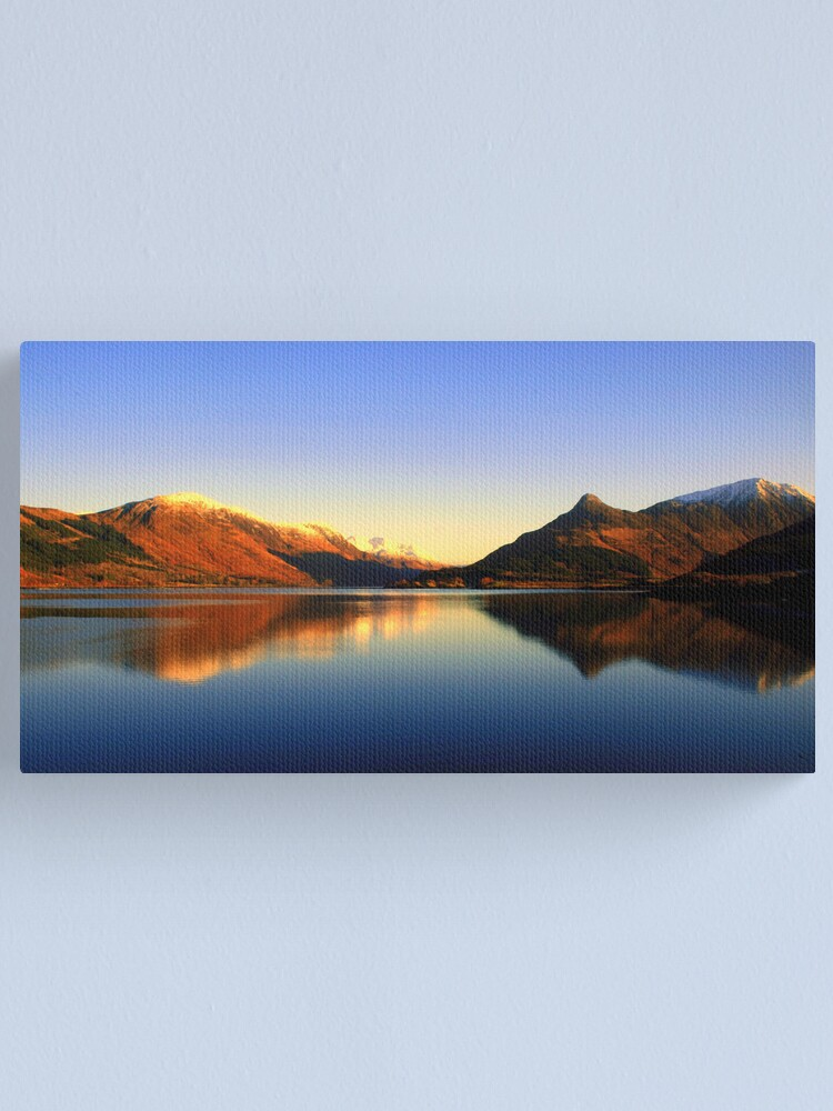 Alternate view of Loch  Leven and The Pap of Glencoe  Canvas Print