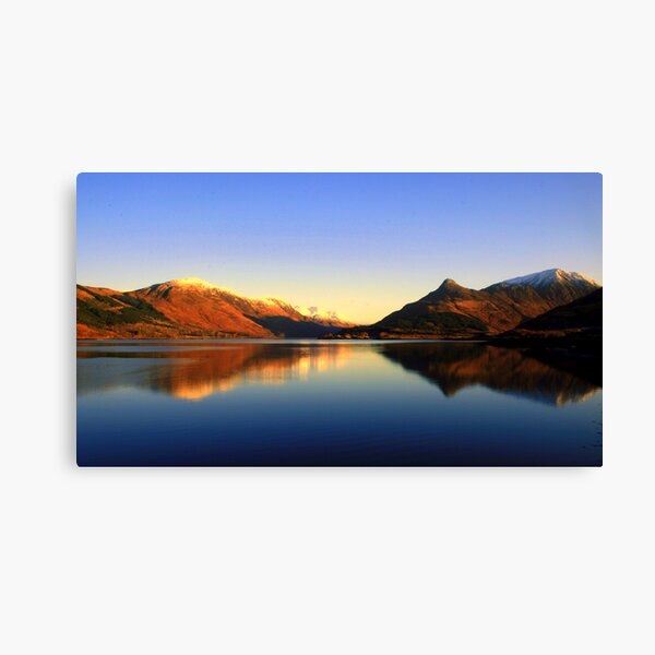 Loch  Leven and The Pap of Glencoe  Canvas Print
