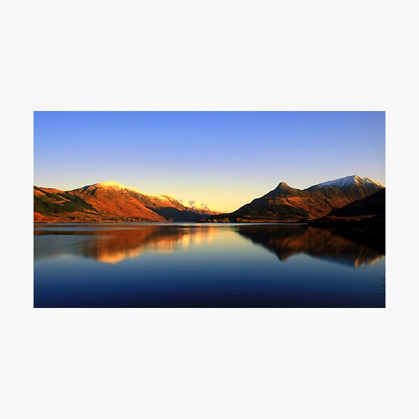Loch  Leven and The Pap of Glencoe  Photographic Print