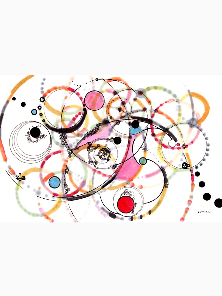 Spheres of Influence - ink on paper by rvalluzzi