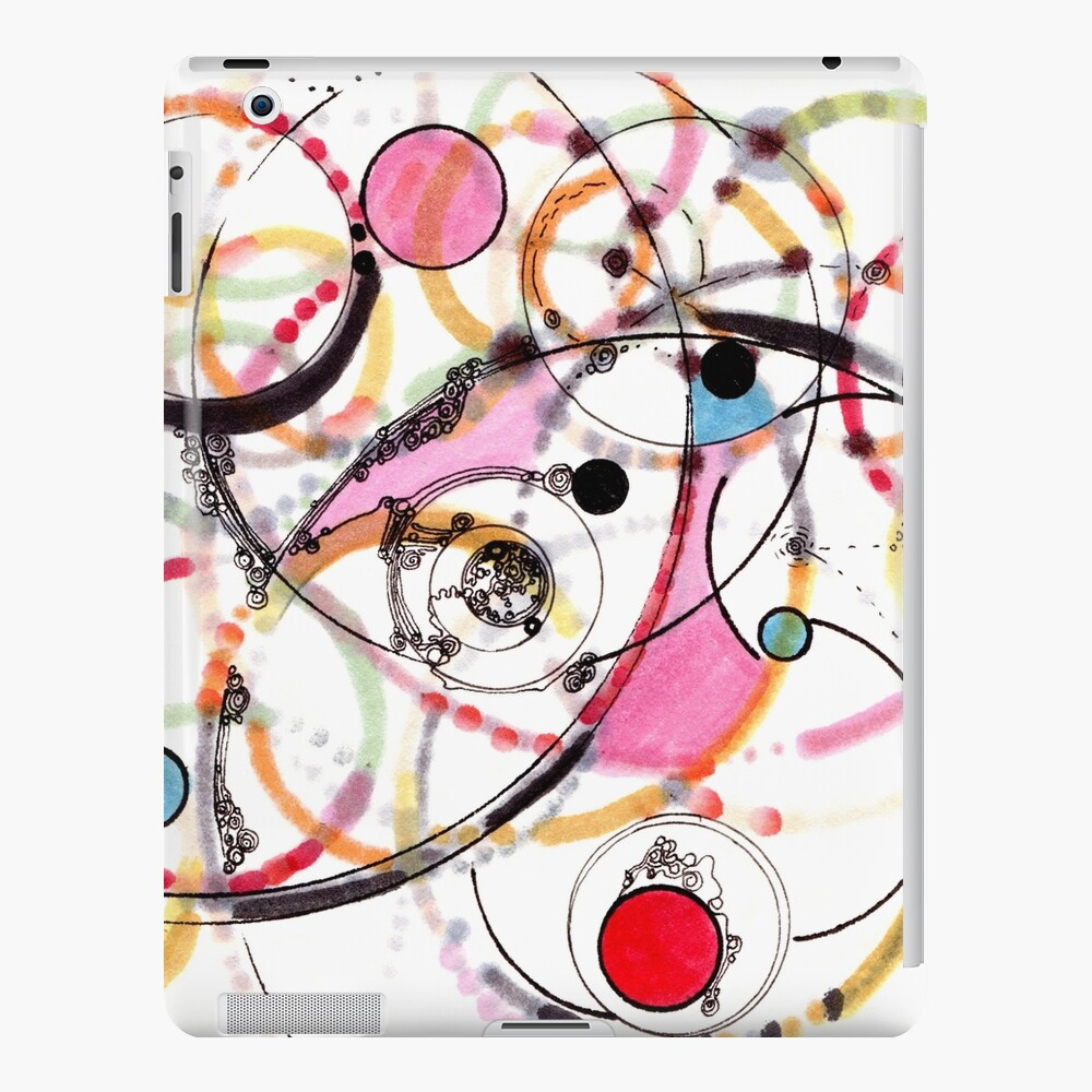 Spheres of Influence - ink on paper iPad Case & Skin