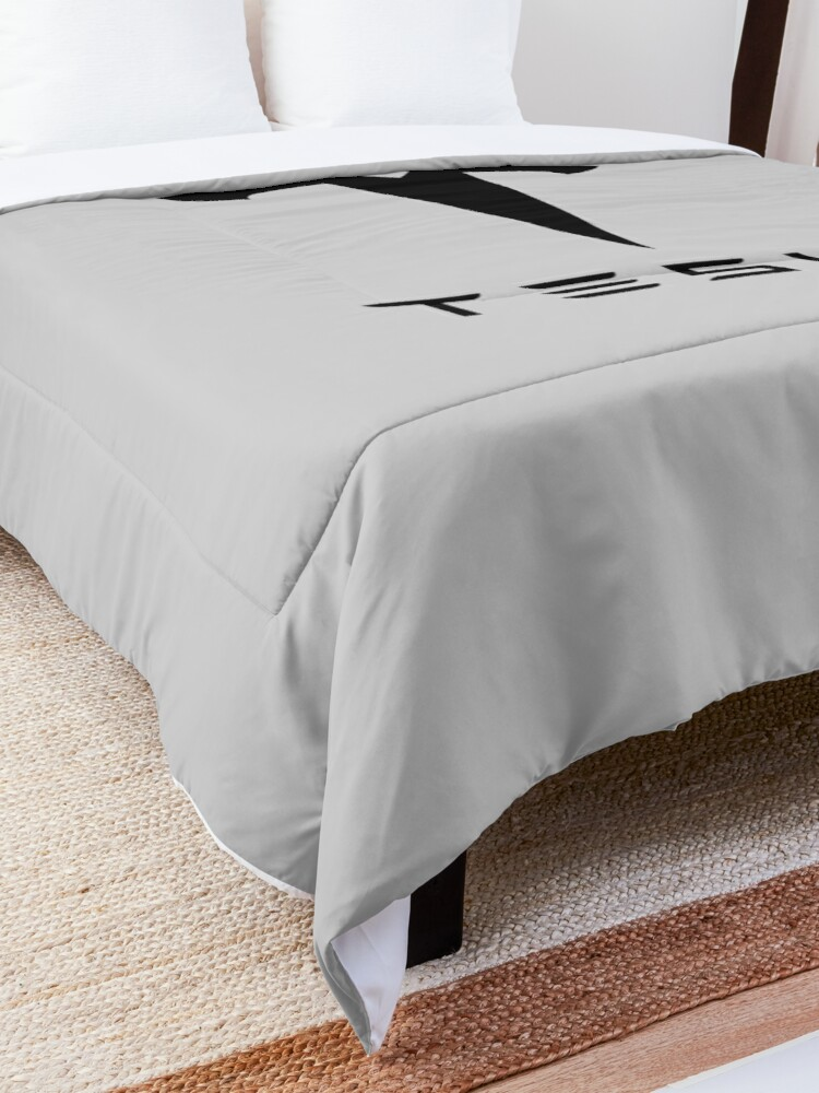 Alternate view of design tesla Comforter