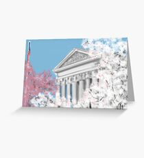 Cherry Blossoms and Supreme Court  Greeting Card