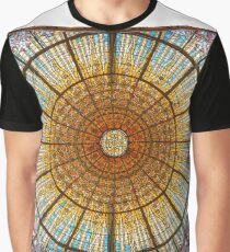 Stained glass skylight in Palace of Catalan Music  Graphic T-Shirt