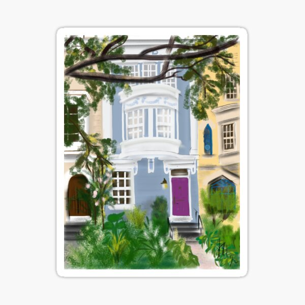 Capitol Hill Rowhouse in Spring  Sticker