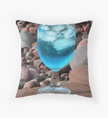 Martini On The Rocks Throw Pillow
