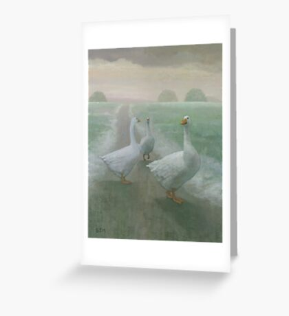 Winter Geese Greeting Card