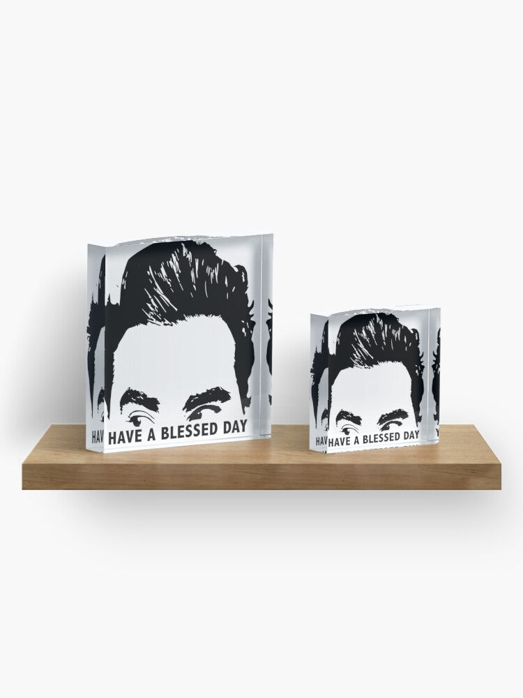 Alternate view of Have a Blessed Day Acrylic Block