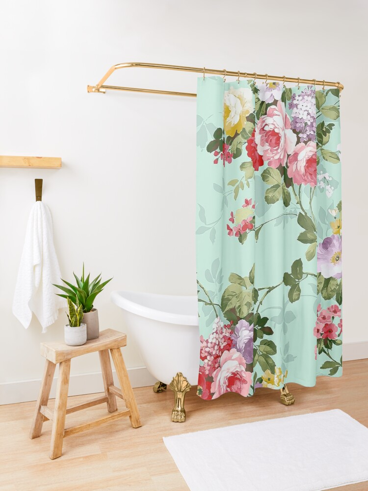 Alternate view of Vintage Floral  Shower Curtain