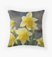 Dainty Daffodils Throw Pillow