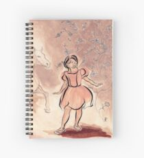 Girl with Horse Illustration Spiral Notebook