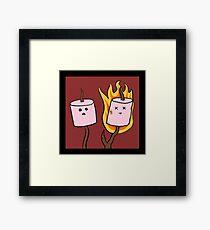 The plight of the marshmallow Framed Print