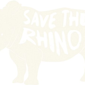 Vintage Save The Rhino T shirt by AlyMerchandise