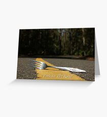 Fork In The Road Greeting Card