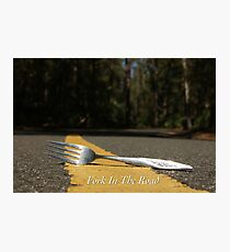 Fork In The Road Photographic Print