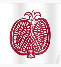 Vector pomegranate Poster
