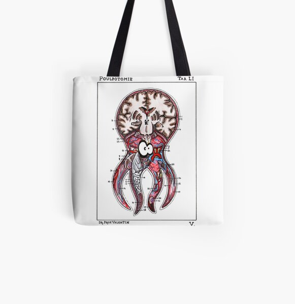 Poulpotomie All Over Print Tote Bag
