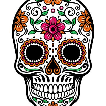 Sugar Skull Cinco De Mayo Day of the dead by inkwear
