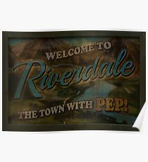Riverdale City Sign Poster
