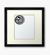 Spinning circle house DJ Vol. 2 - Happy people icon Framed Print
