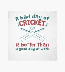 A Bad Day Of Cricket Is Better Than A Good Day At Work Funny Gift Distressed   Scarf