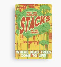 Library Stacks Poster Canvas Print