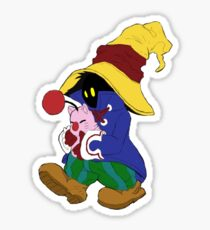 """Cuddles"" with Vivi from FF9 Sticker"