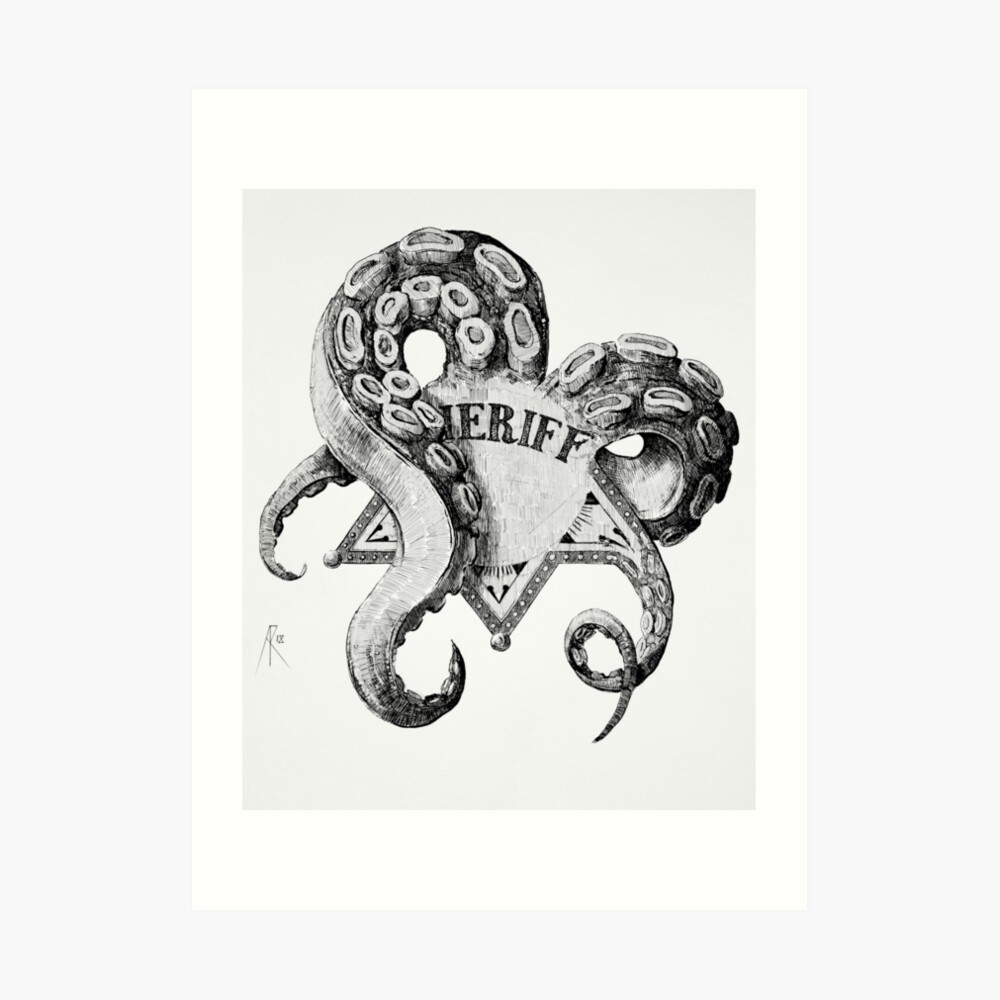 Sheriff Cthulhu Art Print