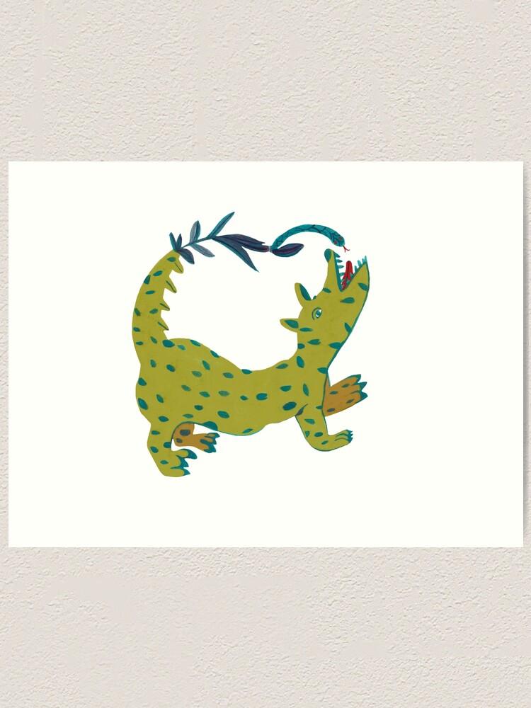 Alternate view of Yellow dog. Art Print