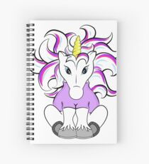 Unicorn in a Turtleneck Spiral Notebook