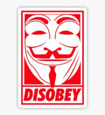 disobey anonymous Sticker