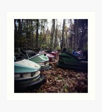 Enchanted Cars Art Print