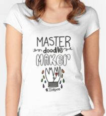 #IdeaFlood: Master Doodlemaker  Women's Fitted Scoop T-Shirt