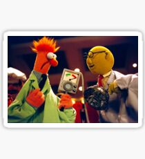 Bunsen and Beaker Sticker