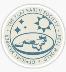 Flat Earth Society Official Member Sticker