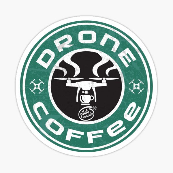 Drone Coffee - Starbucks parody -  t-shirt Sticker