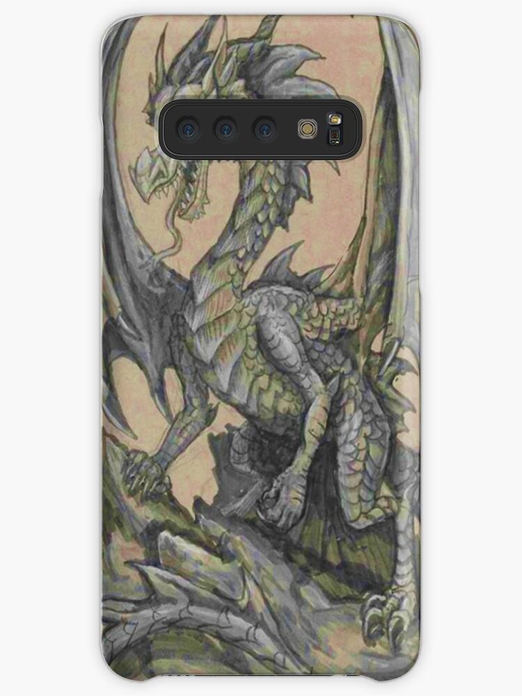 Fundas Y Vinilos Para Samsung Galaxy Impresionante Dibujo De Dragón