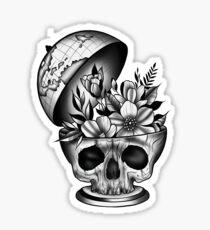 Schädel Globus Sticker