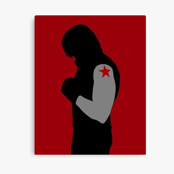 Minimalist Winter Soldier Canvas Print