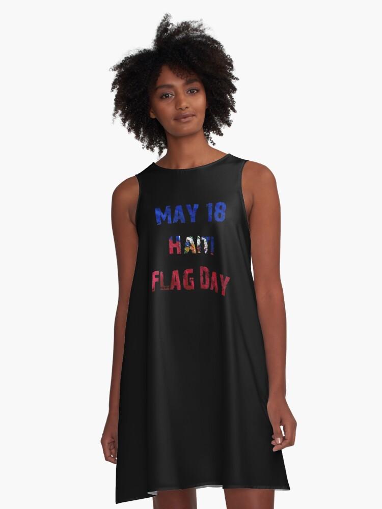 May 18 Haiti Flag Day T Shirt 18 May Ayiti A Line Dress By