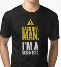 BACK OFF MAN. Tri-blend T-Shirt