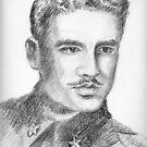 Mario Mari portrait by Francesca Romana Brogani