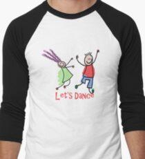 Let's Dance Men's Baseball ¾ T-Shirt