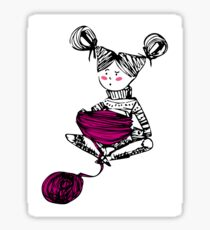Knitting time  Sticker
