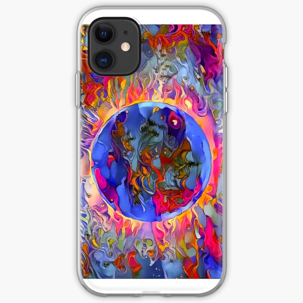 Psychedelic Eclipse iPhone Soft Case