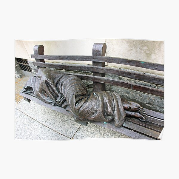 Homeless Jesus Poster