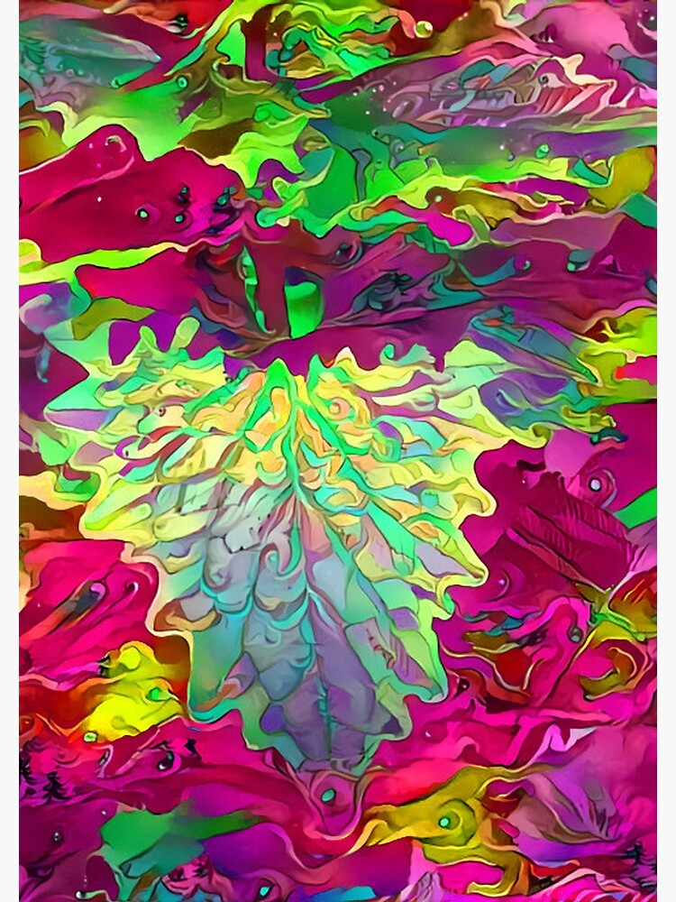 Psychedelic plant by chironex