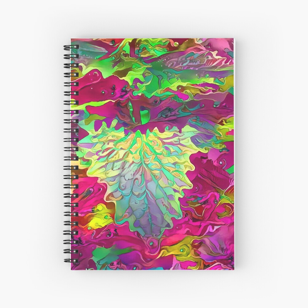 Psychedelic plant Spiral Notebook