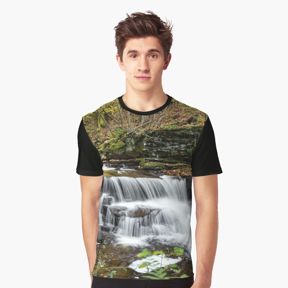 Unnamed Falls at Ricketts Glen SP Graphic T-Shirt