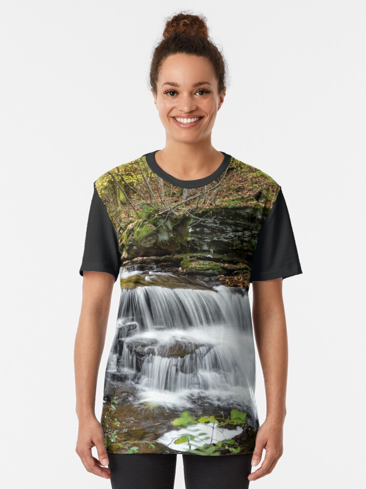 Alternate view of Unnamed Falls at Ricketts Glen SP Graphic T-Shirt